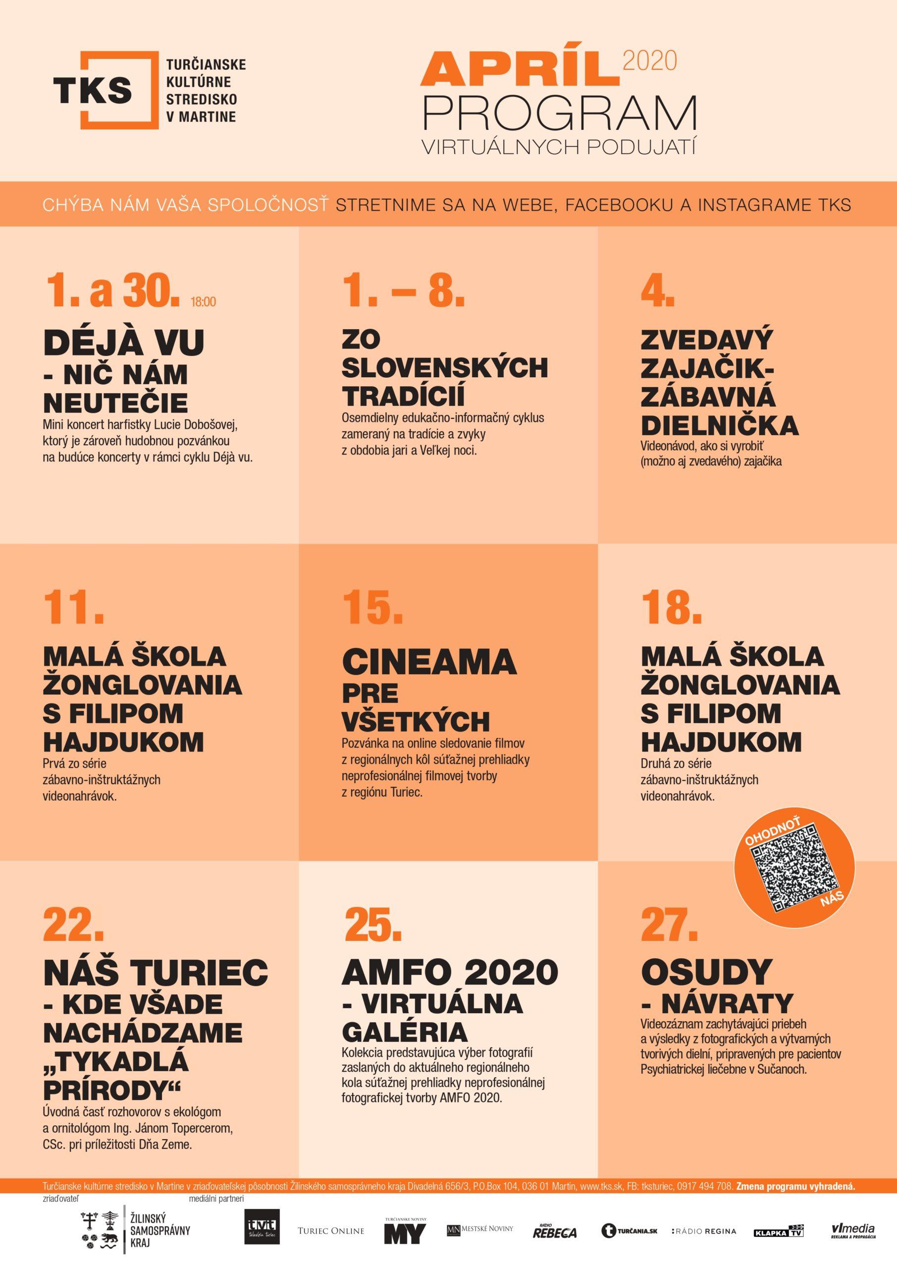 Program na apríl 2020