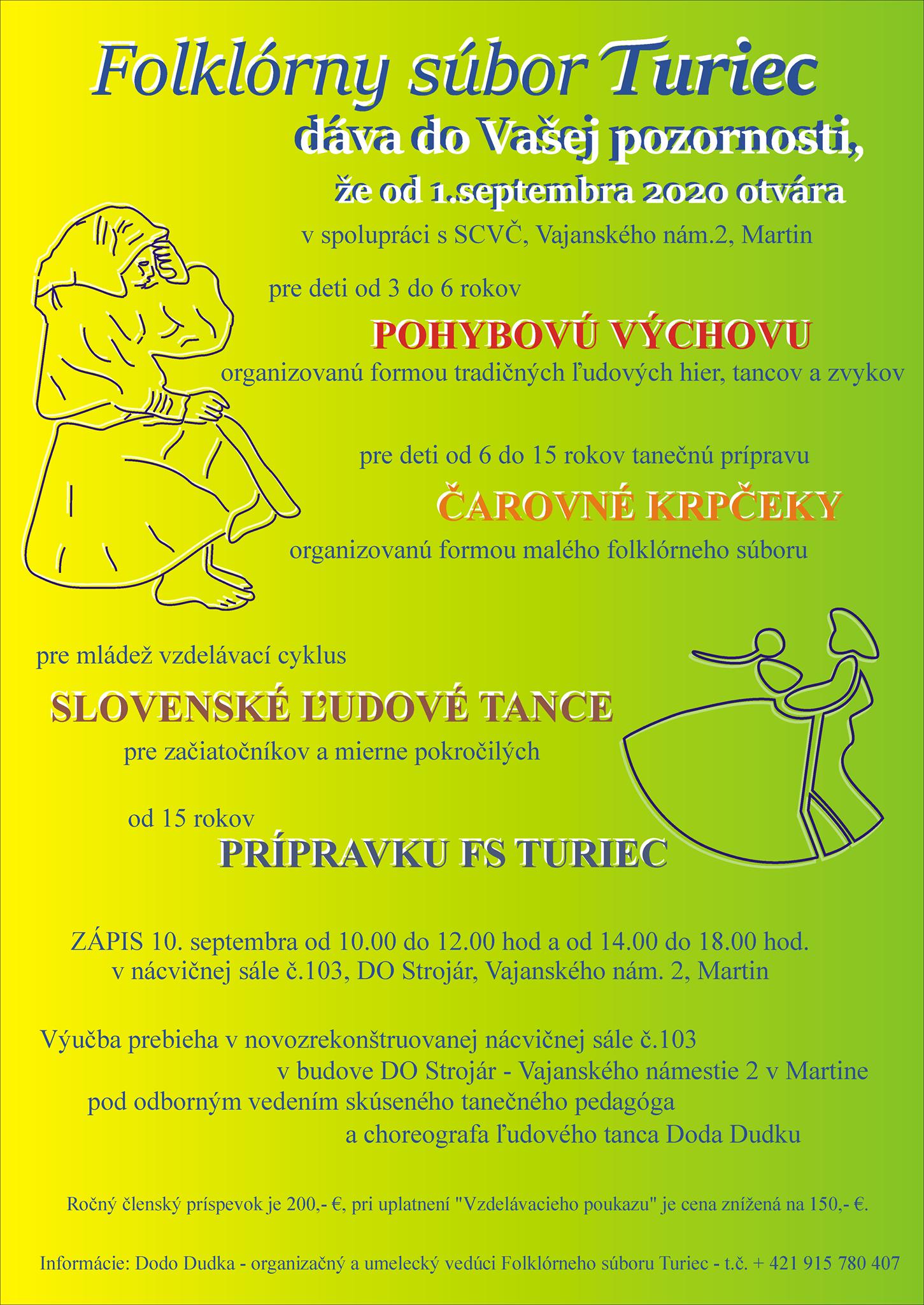 FS Turiec hľadá nových tanečníkov a tanečnice!
