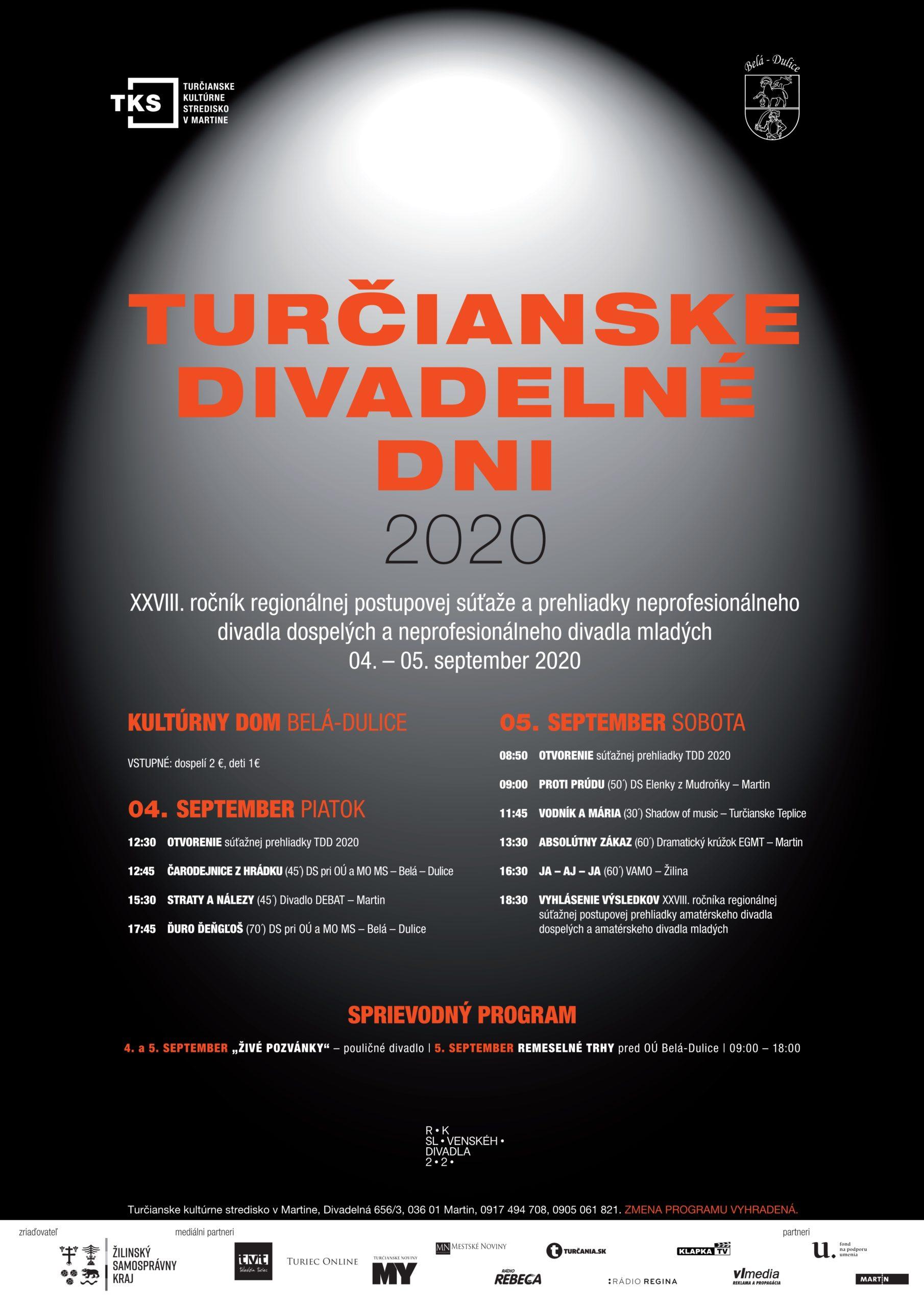 Turčianske divadelné dni 2020 – výsledky regionálneho kola súťažnej prehliadky