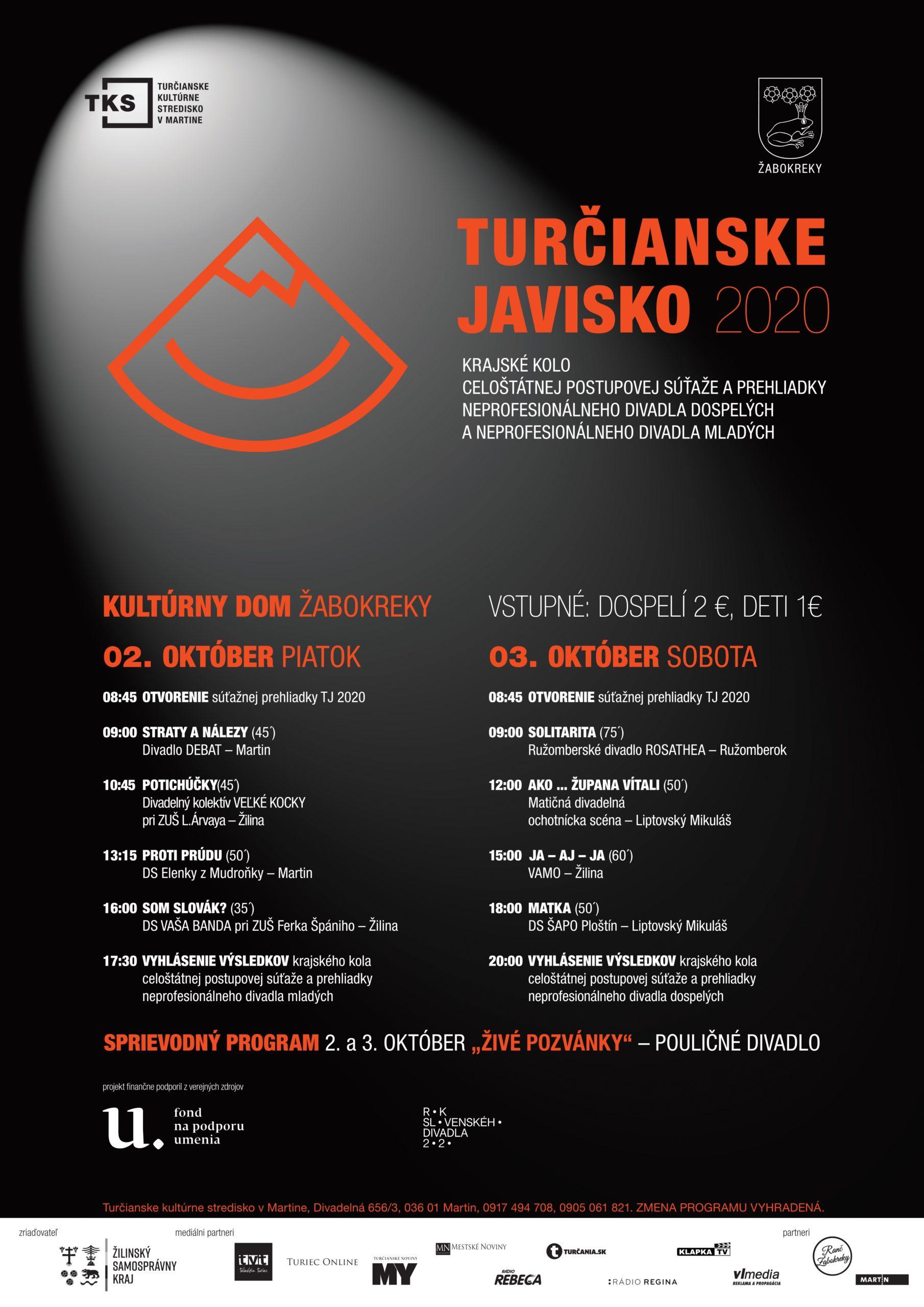 Turčianske javisko 2020
