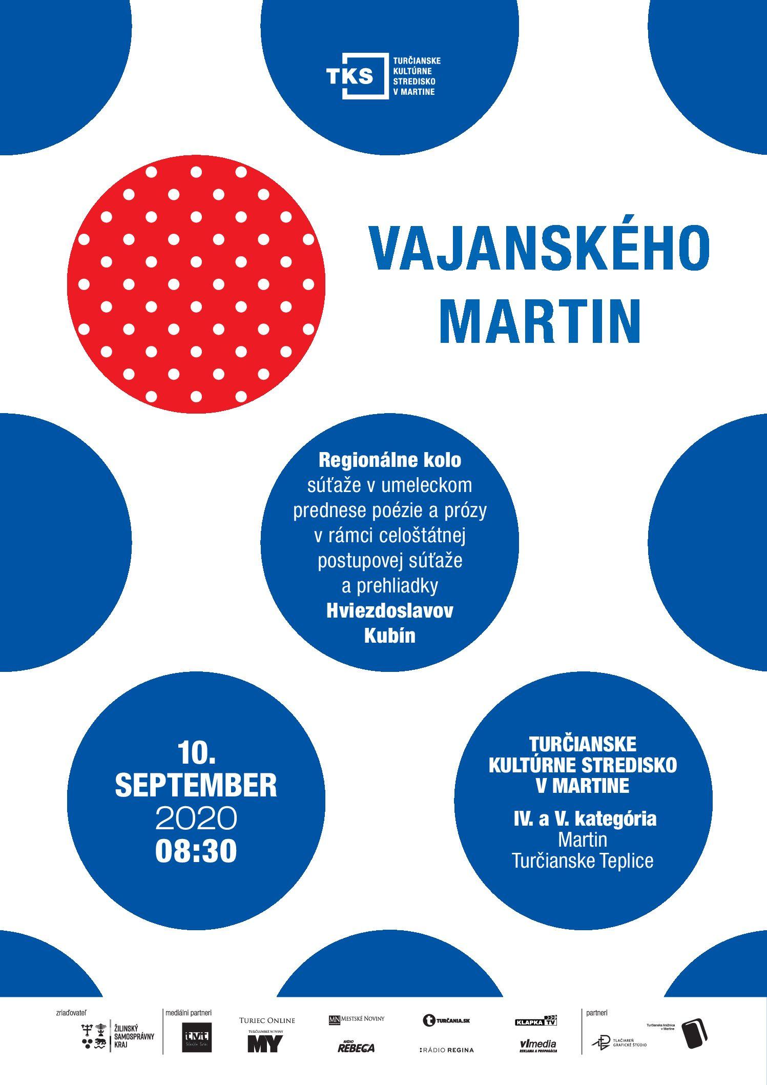 Vajanského Martin 2020