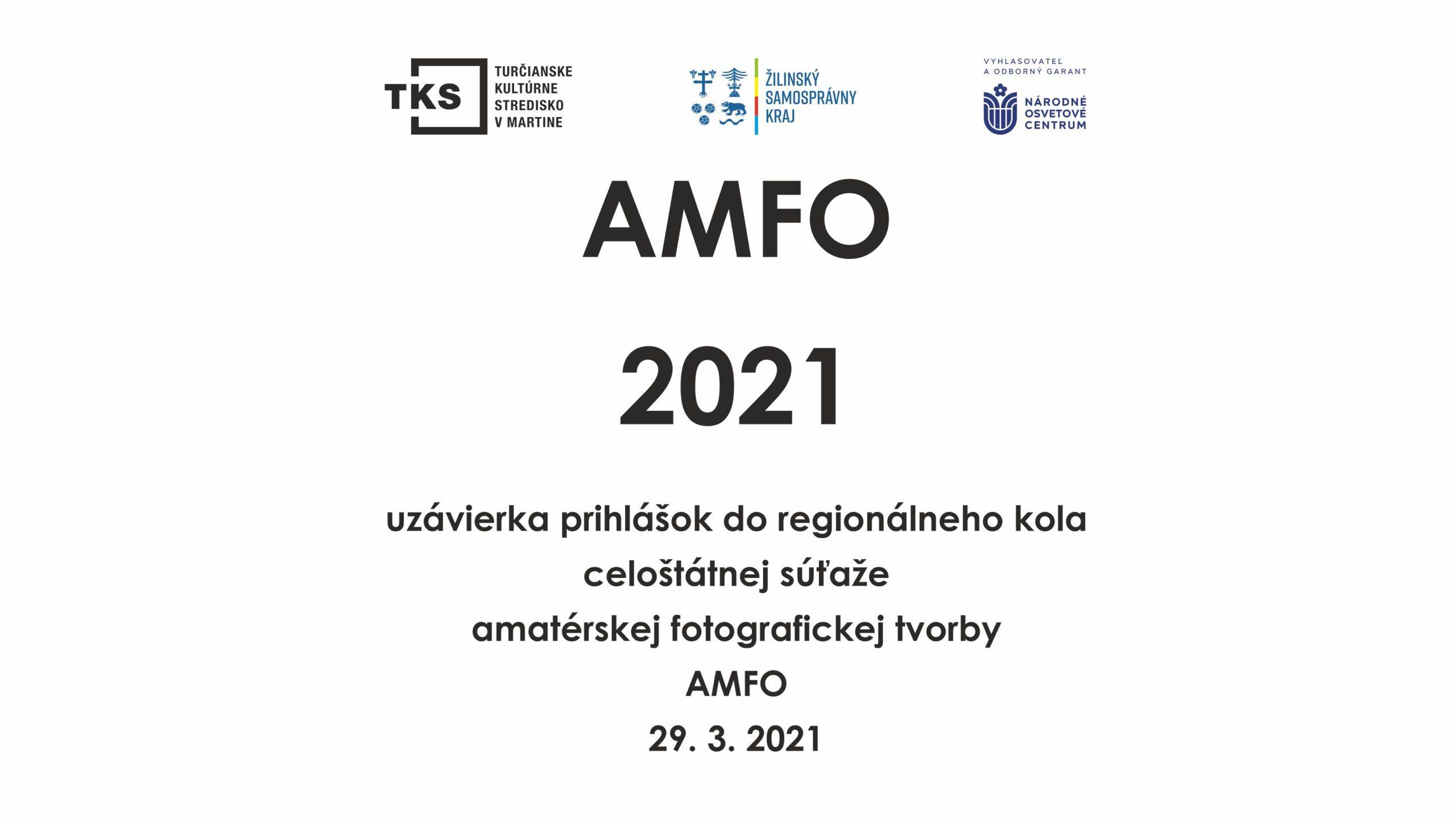 AMFO 2021 prihlásenie a propozície