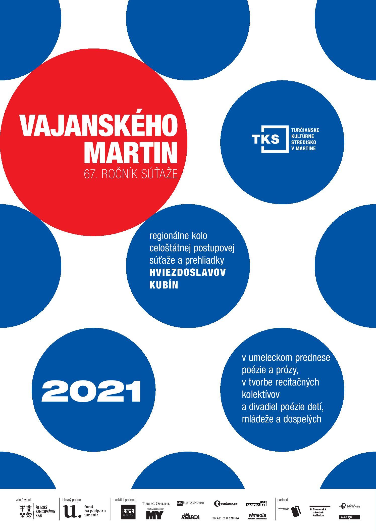 PRIHLASOVANIE do regionálneho kola Vajanského Martin 2021 JE OTVORENÉ
