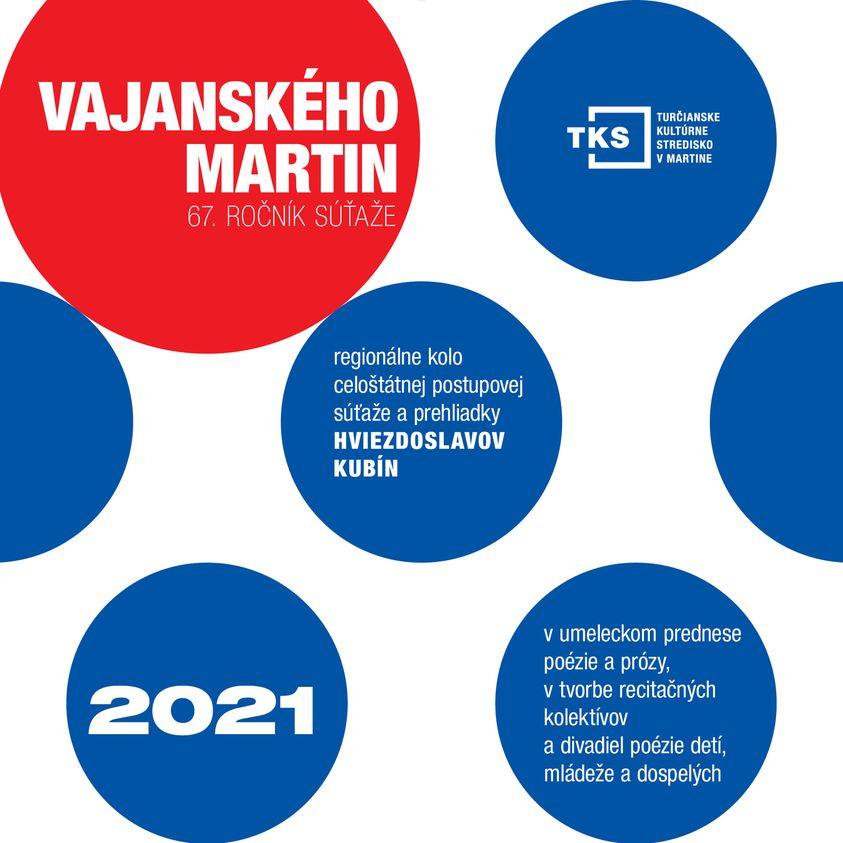 PRIHLASOVANIE do regionálneho kola Vajanského Martin 2021 JE OTVORENÉ do 04.06.