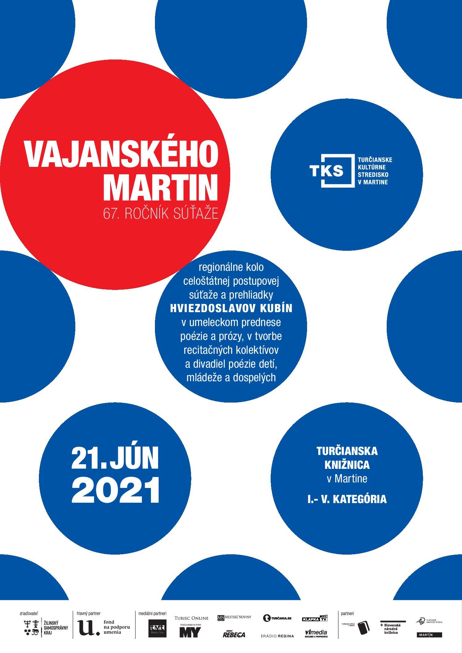Vajanského Martin regionálne kolo sa blíži