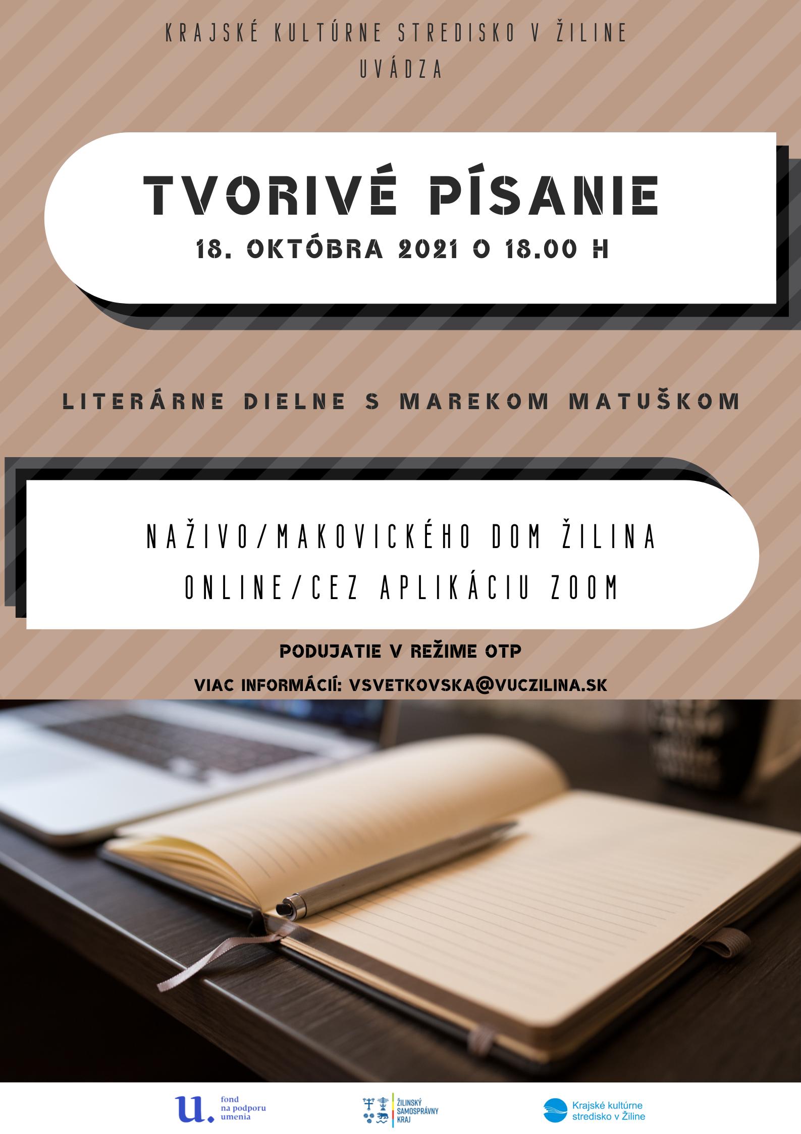 Tvorivé písanie – prezenčne i online!